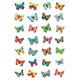 Schmucketikett Magic Schmetterlinge Glimmerfolie 1B 1Pack