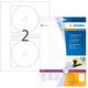 Etikett 116mm CD Maxi weiss A4 20Et 10Bl 2Et Bl LaserInkCopy