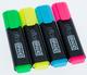 officeBRAND Textmarker 4er Etui gelb, grün, pink, blau