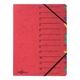 Ordnungsmappe, A4, 12 Fächer, rot