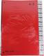 Pultordner 24tlg. A-Z mit Color- Einband, aus Hartpappe rot,