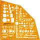 Rumold Ausbildungsschablone Metall, orange,f.Ausbildung aller Metallberufe