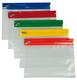 Gleitverschlussbeutel A5, transparent PE, Zip-Leiste in 5 Farben VE = 1 Beutel = 15 Stück