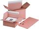 Fixkarton A4 braun, haftklebend und Aufreißfaden mit Automatikboden