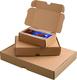 Maxibriefkarton braun, portooptiemiert wiederverschließbar VE = Packung = 25 Stück