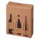 Versandkarton braun für 3 Flaschen PTZ geprüft