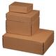 Modulbox braun, portooptimiert als Päckchen, haftklebend, Aufreißfaden