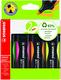 Textmarker Stabilo Green Boss 2-5mm, nachfüllbar, VE = 1 Etui = 4 Stifte