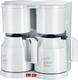 Kaffeemaschine KA5827, weiß, 2 x 8 Tassen, 2 Schwenkfilter,