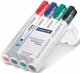 Whiteboard Marker Rundspitze ca. 2 mm, sortiert VE = 1 Etui à 4 Stifte
