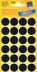 Markierungspunkte, schwarz, 18mm  4 Blatt = 96 Etiketten/Punkte
